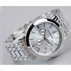 Burberry bu1372 chronograph stainless steel mens watches