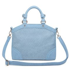 Blue Weave Fashion Handbag