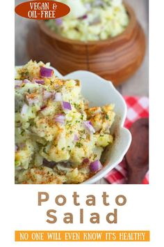 This vegan potato salad from EatPlant-Based is excellent for family gatherings and picnics. No one will ever realize it's a low-fat, healthier version. I promise, if my family can't tell, yours won't either. This vegan side is great for summer gatherings!