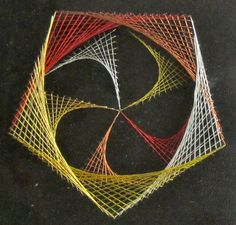 Geometric String Art Home Décor Wall Art by BoldFolds on Etsy