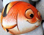 Painted stone Goldfish!