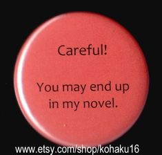 Novel Idea Button by kohaku16 on Etsy, $3.00