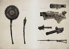 Bloodborne Concept Art, Bloodborne Art, Arsenal, Fantasy Sword, Fantasy Weapons, Medieval Fantasy, Dark Fantasy, Bloodborne Cosplay, Soul Game