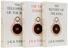 The First Edition Covers of 25 Classic Books:  The Lord of the Rings, by J.R.R. Tolkien. George Allen & Unwin Ltd., 1954-1955. Cover design by J.R.R. Tolkien.
