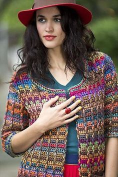 Ravelry: Colorfully Modern Cardigan pattern by Lion Brand Yarn