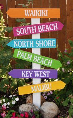 Burton Avenue: Beach Directional Sign #beachsignsdirectional