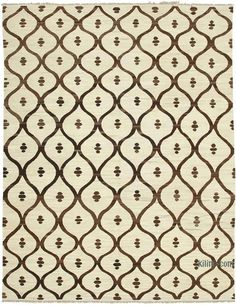 """K0039719 New Contemporary Handwoven Kilim Rug - 8' 1"""" x 10' 4"""" (97 in. x 124 in.) 