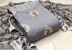 Elegant Semi Modal Embroidered Dress Material With Dupatta from Stf Store Punjabi Dress, Saree Dress, Pakistani Dresses, Punjabi Suits, Salwar Suits, Cotton Dress Indian, Cotton Dresses, Indian Designer Outfits, Indian Outfits
