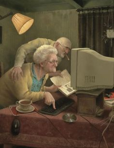 Marius van Dokkum Dutch Painter and Illustrator. Marius van Dokkum Dutch Painter and Illustrator. Gifs, Animiertes Gif, Growing Old Together, Old Couples, The Golden Years, Dutch Painters, Animation, Dutch Artists, Norman Rockwell