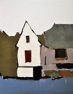 Sandra Pratt - White Barn, Red Window