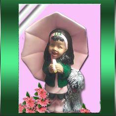 Alpha Kappa Alpha Girl w/Dog Figurine