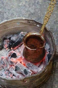 The morning coffee from Palestine