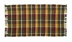 "Truman Rib Weave Woven Cotton 13"" x 24"" Table Runner by Victorian Heart Co., Inc.. $6.45. 100% cotton.. Machine washable, gentle cycle. For best results, line dry.. Country plaid ""rib weave"" of warm burgundy, green and gold with crisp white accents. Measures 13"" x 24"". Our Rib Weave Collection are 100% cotton in a multi-color plaid ""rib weave"" construction, with tassels on the ends. Available in 10 colorways and 9 tabletops items--sure to match any décor!"