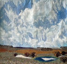Spring Sky: 24 3/4 x 25 inches, $600.00