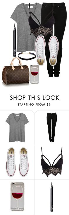 """Untitled #1004"" by jasmine96xx on Polyvore featuring The Great, MM6 Maison Margiela, Converse, Club L, Louis Vuitton and NARS Cosmetics"