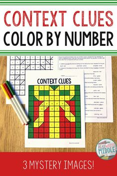 Christmas Context Clues Color By Number Teaching 6th Grade, Third Grade Math, Middle School Reading, 4th Grade Reading, Reading Passages, Reading Comprehension, Classroom Inspiration, Classroom Ideas, School Holiday Activities