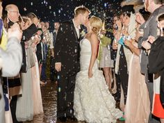 Jason and Ingrid making their exit with lots of bubbles and great friends/family! The Sonnet House | 205 Photography