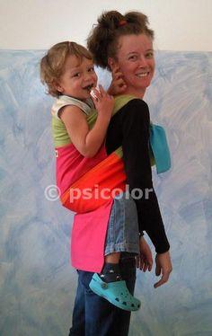 Big kid back carry #babywearing podegai