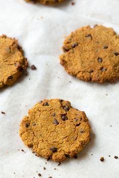 Pumpkin Spice Chocolate Chip Cookies #grainfree #glutenfree