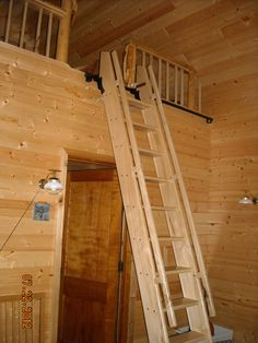 Elm Ship's style ladder with  Rockler hardware for loft access