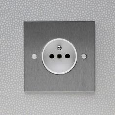 Stainless Steel 16amp French Socket with White Insert