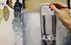 how to paint a glass of water to look realistic