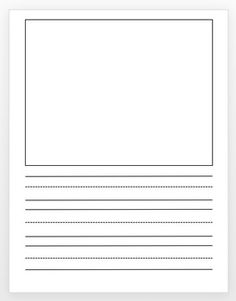 Lined Paper For Writing! Full Page And A Page With Room For Drawing