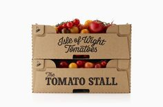 Brand Identity for The Tomato Stall by Designers Anonymous BP&O is part of Vegetable packaging Food Packaging Design, Packaging Design Inspiration, Brand Packaging, Apple Packaging, Organic Packaging, Vegetable Packaging, Tomato Growers, Fruit Box, Branding