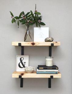 Équerres Custom Iron Shelf support matériel de par CascadeIronCo