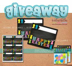 HoneyBops #printable #label #giveaway