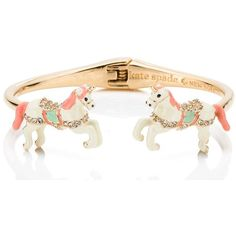 Kate Spade Carnival Nights Unicorn Open Cuff ($88) ❤ liked on Polyvore featuring jewelry, bracelets, kate spade, unicorn jewelry, kate spade bangle, cuff bangle and cuff jewelry