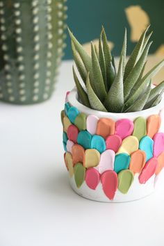 Clay petal planter DIY