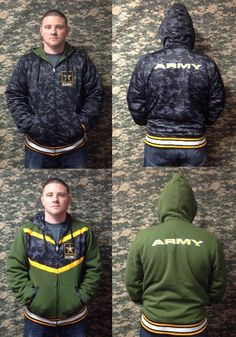 Army Black Ops Reversible Zip Up - Jacket - Hoodie - Winter Clothes