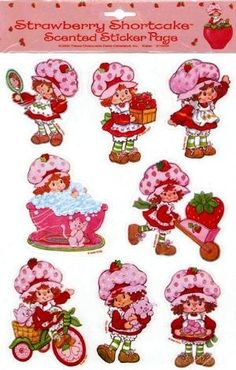 Strawberry Shortcake scented stickers, I remember these. Vintage Strawberry Shortcake, Up Book, 80s Kids, Oldies But Goodies, Old Toys, Cute Stickers, Childhood Memories, Childhood Toys, Vintage Toys