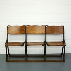 Victorian / Edwardian folding theatre seats - Lovely and Company Theater Seating, Theatre, Old Things, Lounge, Victorian, Cabinet, Storage, Suffragettes, Barbers