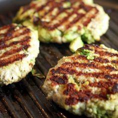 Chicken Avocado Burgers Recipe Main Dishes with ground chicken, avocado, garlic, salt, pepper