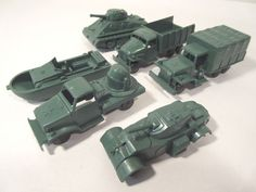 MARX MILITARY LOADS RR LOAD OR PLAYSET 6-PC GREEN O-GAUGE #X4862