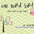 This is an activity for students to practice reading and sorting words by their long o and /ow/ as in