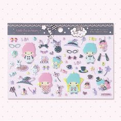 【2011.08.17】【Magical Circus】Stickers (¥378 約12.5×17.5×0.2cm) ★Little Twin Stars★