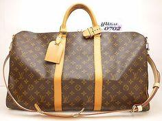 r55173 Auth LOUIS VUITTON Monogram MB1069 KEEPALL BANDOULIERE 50 Hand Bag M41416