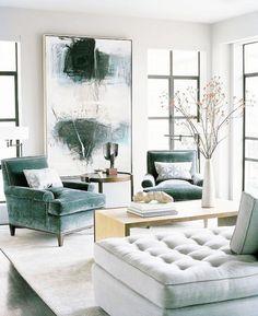 Stunning Steel Windows Tufted Velvet Grey Ottoman