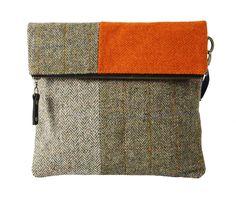 Catherine Aitken - one-off designs handmade from recycled tweed and tartan. Linda Jones, Edinburgh Fringe Festival, Contemporary Design, Tartan, Tweed, Scotland, Reusable Tote Bags, Summer, Crafts
