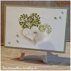 StampinUp, Hochzeit/Valentin /Muttertag/Geburtstags Karte verwendbar, F/S, Blüten der Liebe, SAB Blumen Potpourri....