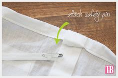DIY Off the Shoulder Top safety pin and elastic
