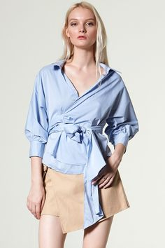 Mula Wrap Blouse Discover the latest fashion trends online at storets.com