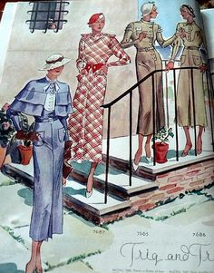 McCall magazine, spring 1934 featuring McCall 7687, 7665 and 7686