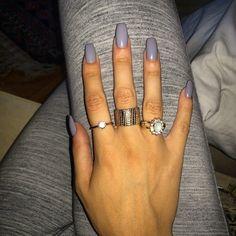 coffin / ballerina nails