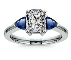 Radiant Trillion Ruby Gemstone Engagement Ring in Platinum  http://www.brilliance.com/engagement-rings/trillion-ruby-gemstone-ring-platinum