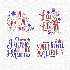 Patriotic USA Fourth 4th July Independence Day SVG Dxf STUDiO PNG Ai Eps Vector Instant Download Commercial Cutting File Cricut Silhouette by CraftyLittleNodes on Etsy