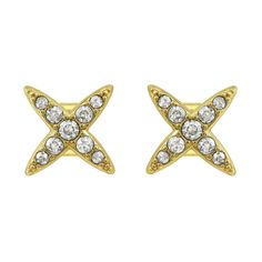 ADORE Elegance 4 Point Star Earrings www.adorejewelry.com